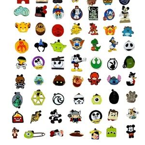50 BOY Assorted Disney Pin Trading Lot - NEW